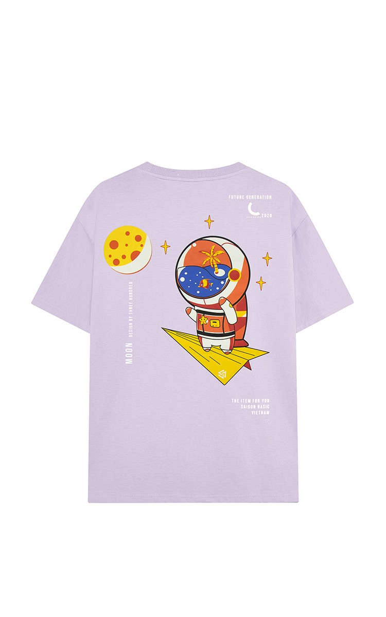 Fly Me To The Moon Tee Purple