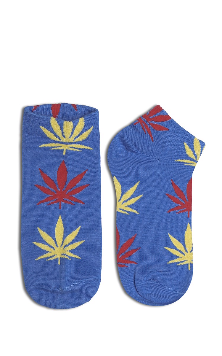 Stay Smokin Shoes Sock In Blue