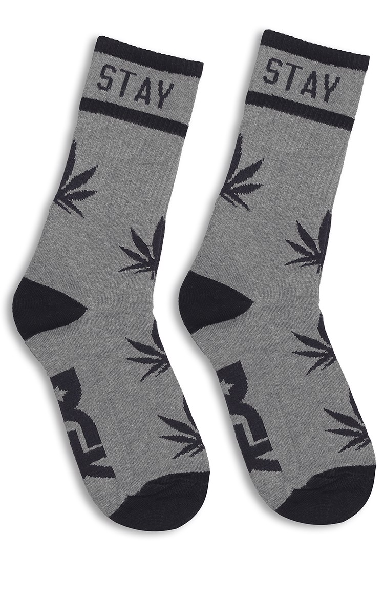 Stay Smokin Shoes Sock In Grey