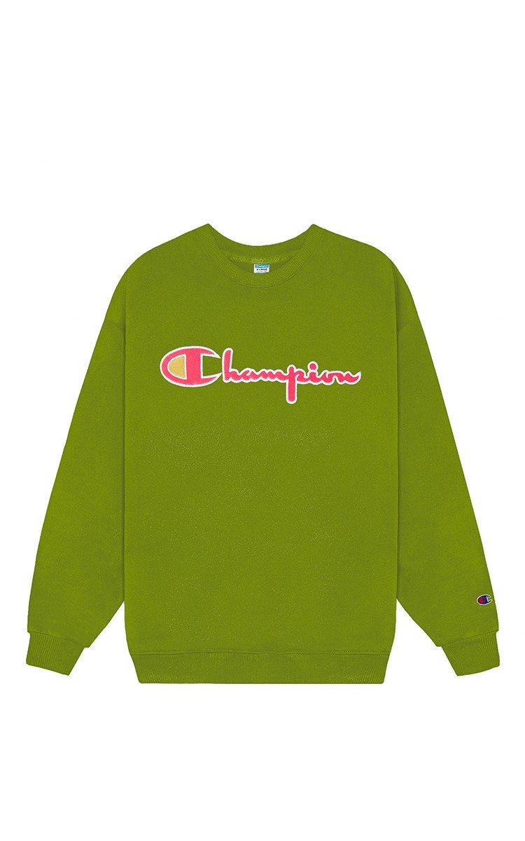 Champion Reverse Weave Sweater In Matcha Green