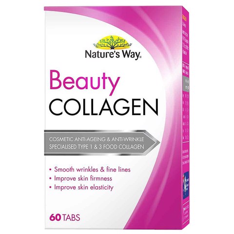 Viên uống nature's way beauty collagen 60 tablets review