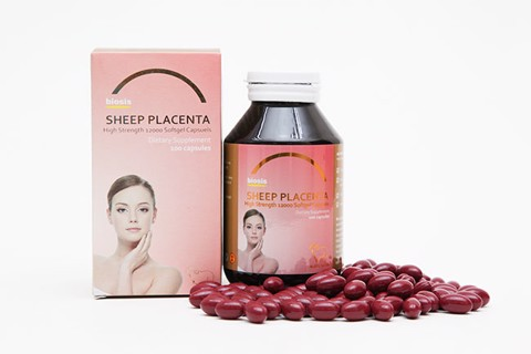 Viên uống Nhau Thai Cừu Biosis sheep placenta 12000mg High Strength Úc