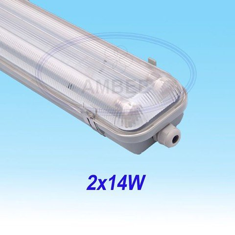 T5 Fluorescent Weather Proof Aluminum IP65 Fixture 0.6M/2x14W