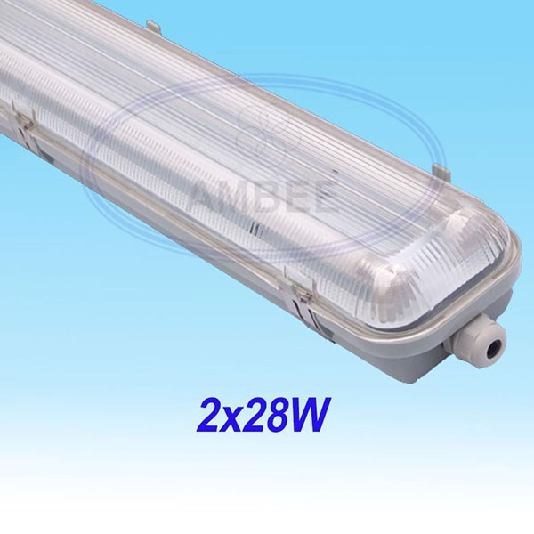 T5 Fluorescent Weather Proof Aluminum IP65 Fixture 1M2/2x28W