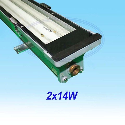 T5 Fluorescent Weather Proof Aluminum IP67 Fixture 0.6M/2x14W