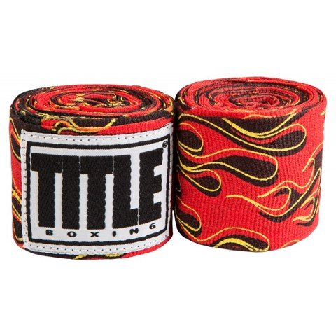 "Băng Quấn Tay Title 180"" Semi Elastic Mexican Style Hand Wraps - Flame"
