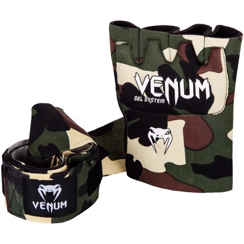 Venum Kontact Gel Gloves Wraps - Forest Camo
