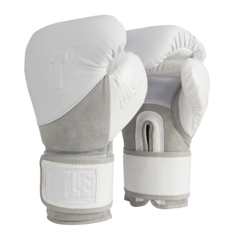Găng tay boxing Title White sparring gloves