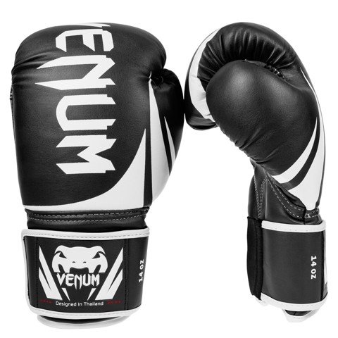Găng tay boxing Venum Challenger 2.0 -BLACK/WHITE Sparring Gloves