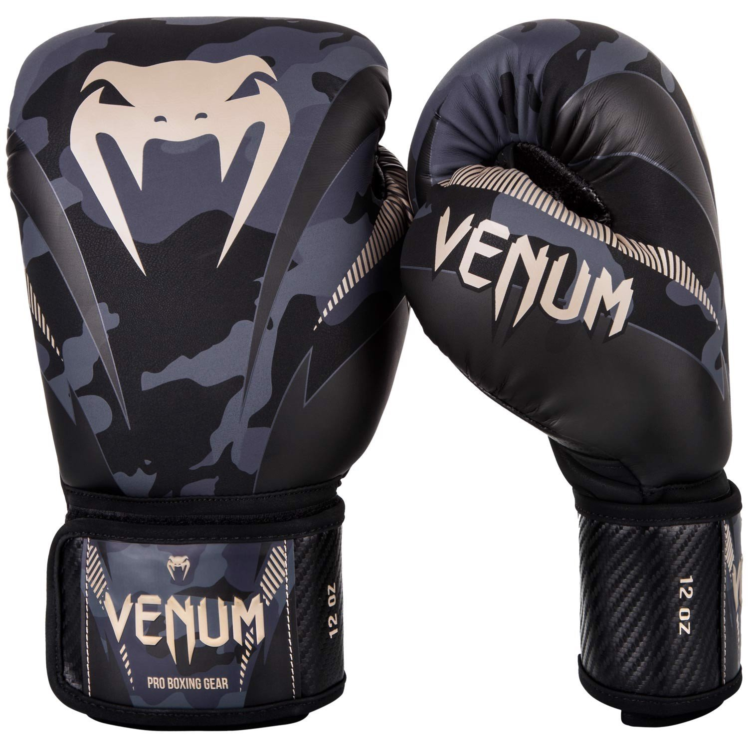 Găng tay boxing Venum Impact Sparring Gloves - Dark Camo Sand