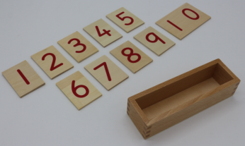 Printed Numerals with box for number rods