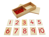 Print Numerals & Counters red
