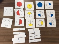 Cards for Large Fraction Skittles