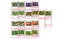 Fruit Vegetables - Set 1