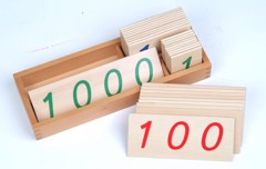 Các thẻ số từ 1 đến 1000 cỡ nhỏ<br>Small Wooden Number Cards With Box (1-1000)