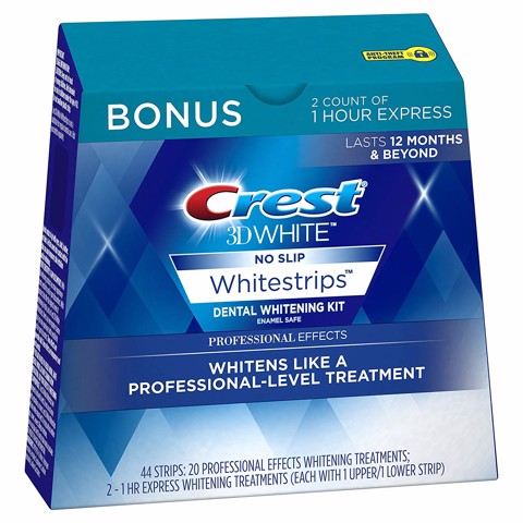 Miếng dán trắng răng Crest 3D White Professional Effects Whitestrips Whitening Strips Kit