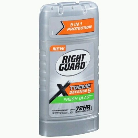 Sáp khử mùi nam Right Guard Xtreme Defense 5 Antiperspirant Deodorant Gel Fresh Blast 73g