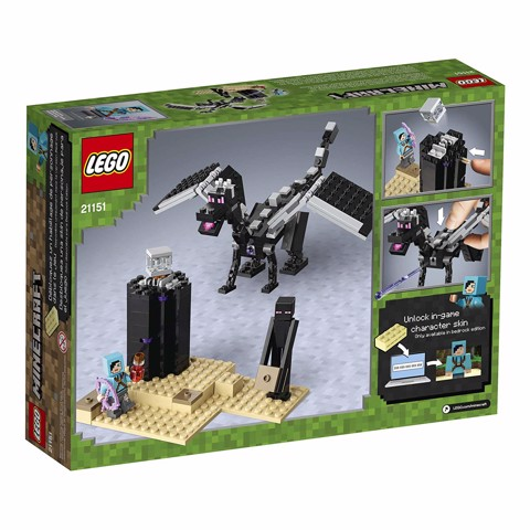 LEGO Minecraft The End Battle - Ender Dragon Building Kit 21151 (222 mảnh)