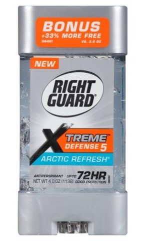 Gel khử mùi nam Right Guard Xtreme Defense 5 Antiperspirant Deodorant Gel Fresh Blast 113g