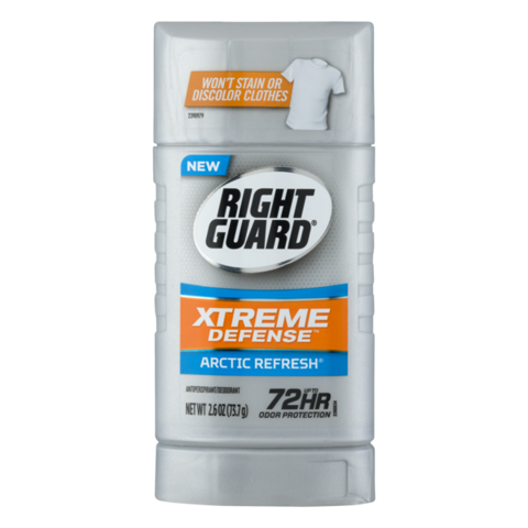 Sáp khử mùi nam Right Guard Xtreme Defense 5 Antiperspirant Deodorant Fresh Blast 73g