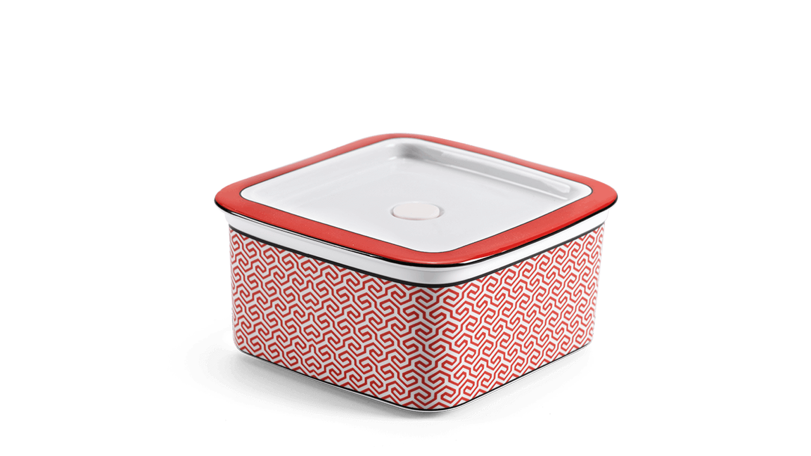 Food box 15.2cm + lid Red Karakusa (LTF)