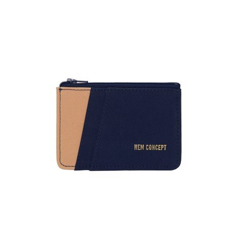 BOLT WALLET - NAVY/CARAMEL