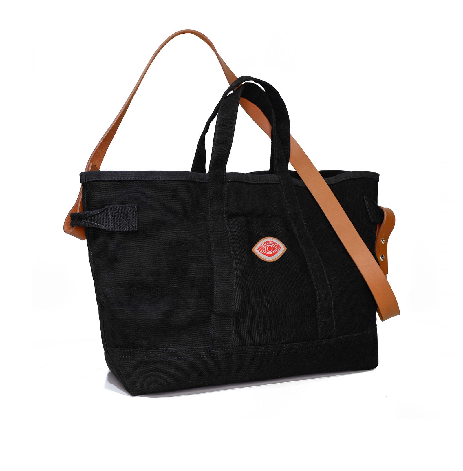 EVERYDAY TOTE- BLACK TAN