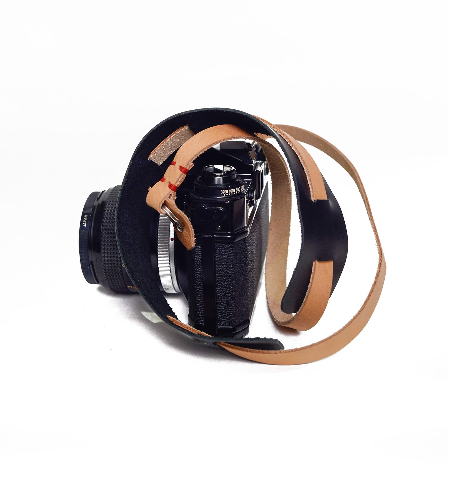 NOMAD LEATHER STRAP - TAN/BLACK