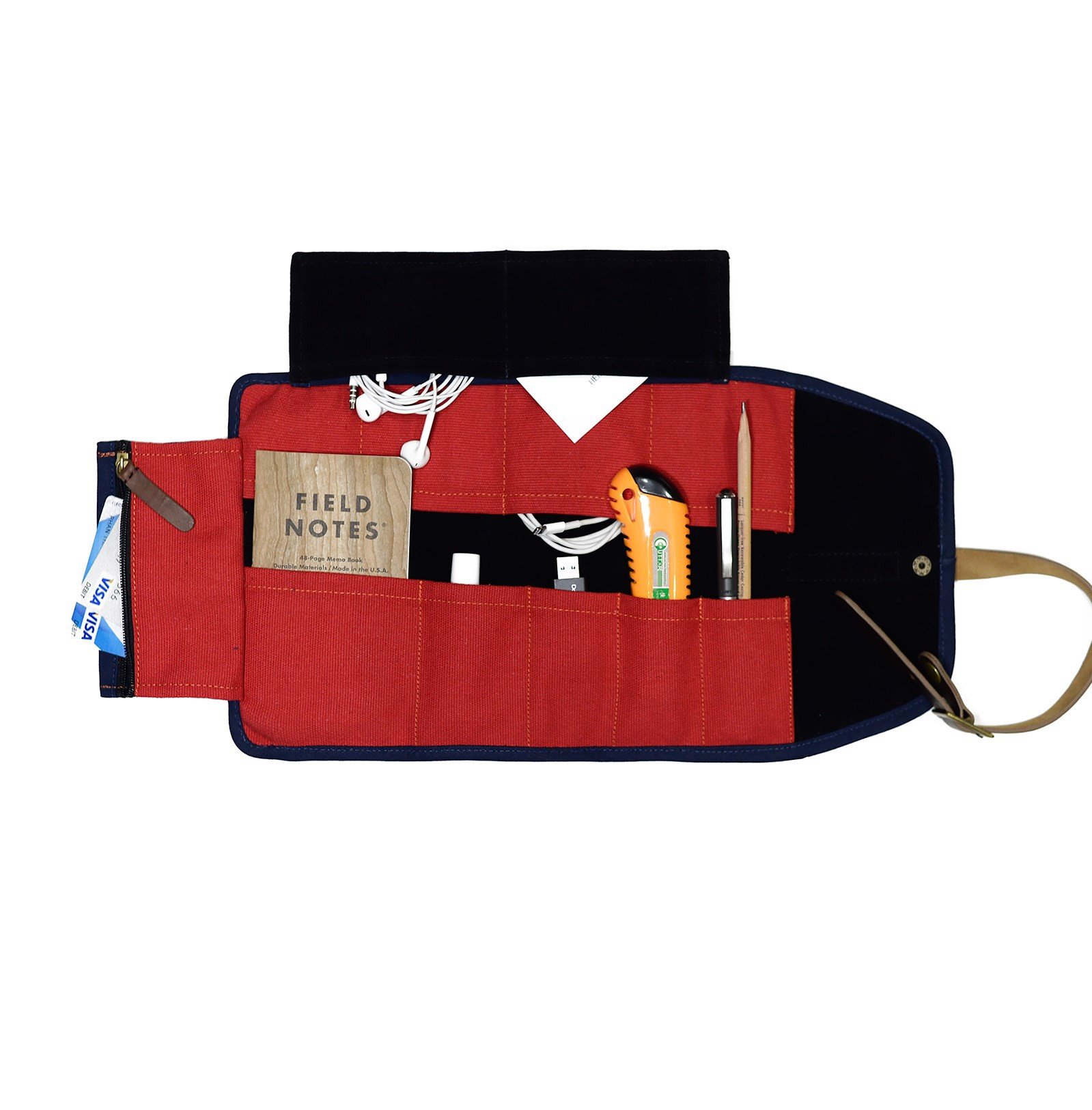 TOOL ROLL - NAVY/RED