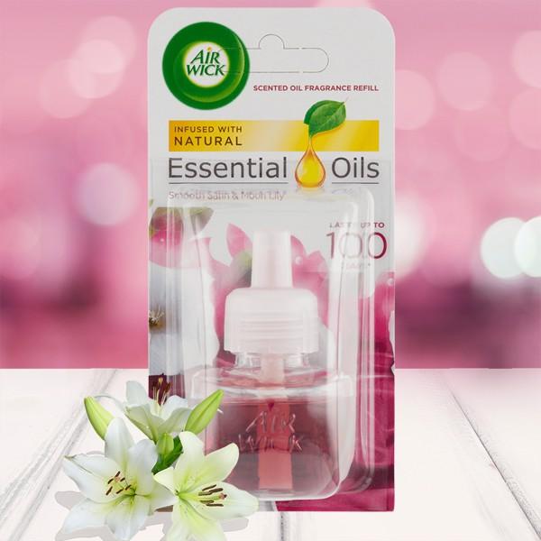 Lọ tinh dầu thiên nhiên Air Wick Smooth Satin & Moon Lily 19ml QT004231 - hương hoa ly