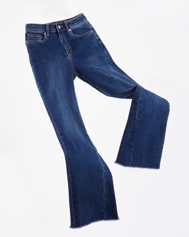 Edgy Flare Jeans