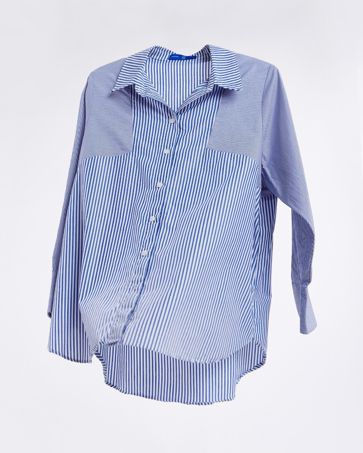 Oversize Patch Shirt - Mixed Stripe