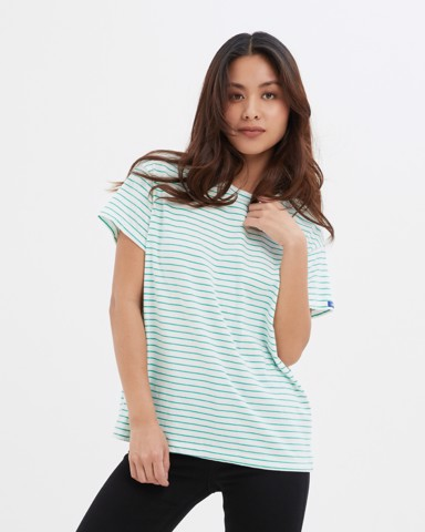 Baby Green Stripes T