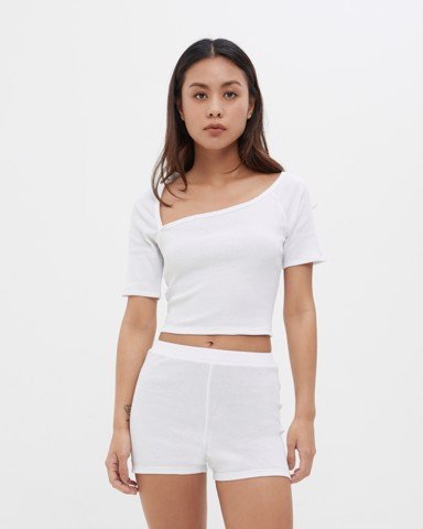 Neckline - Cutout Rib Cotton Top