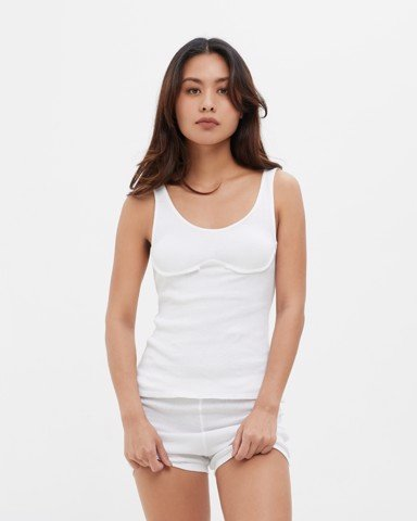 Chest Cup Rib Cotton Tank