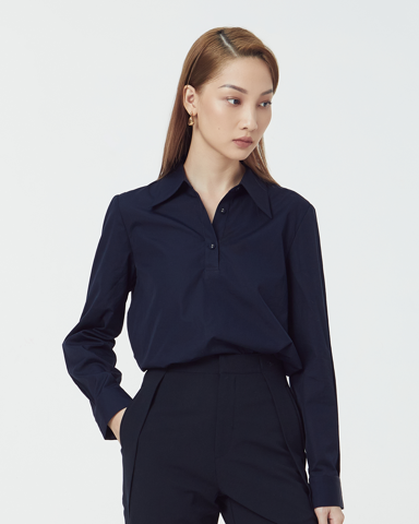 Minimal Box Shirt - Navy