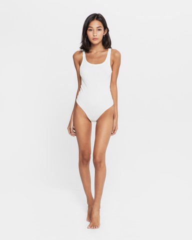 THE REAL BODYSUIT - in WHITE