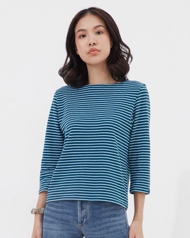 Ever-be Stripe T - Blue & White