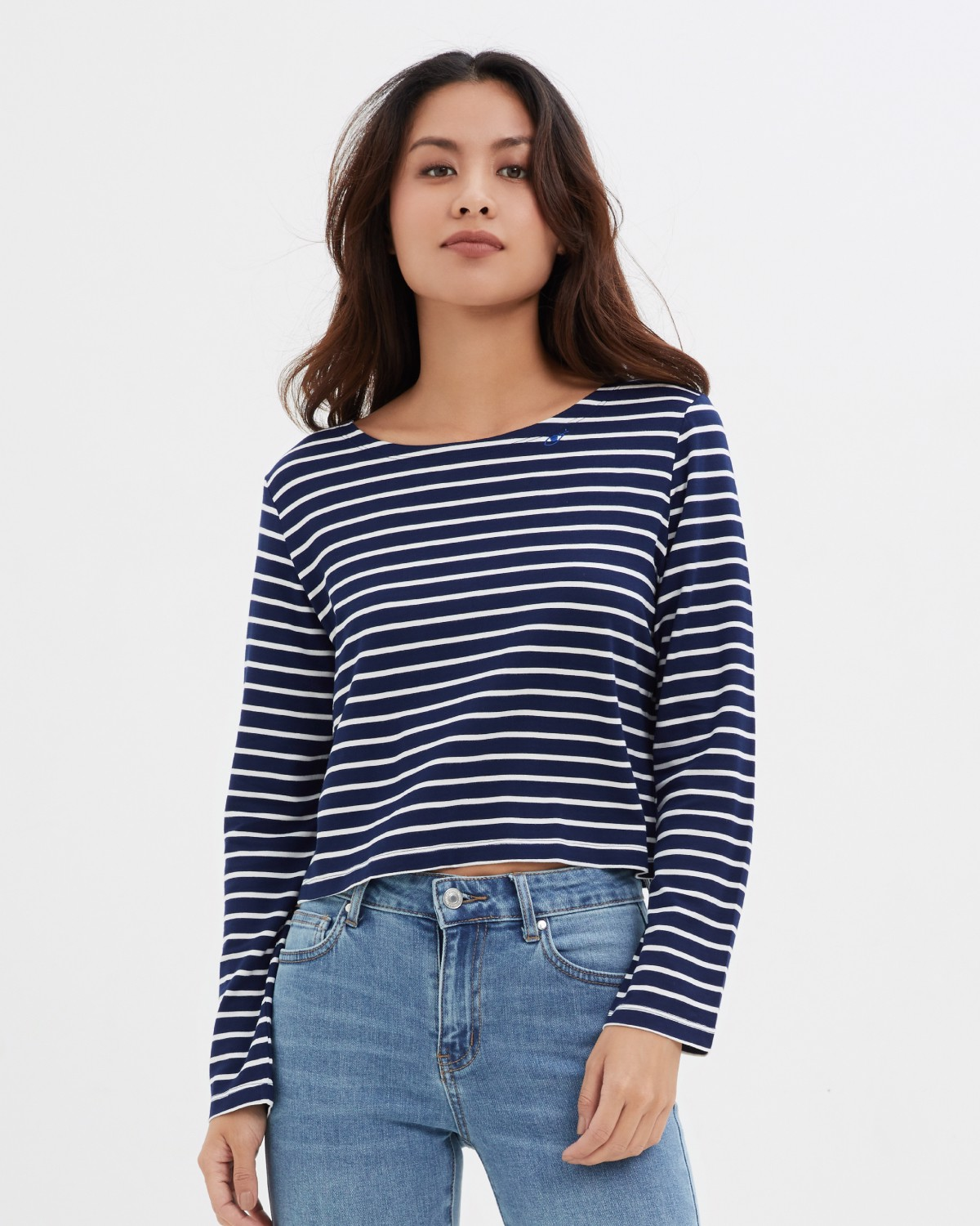 Lifetime Cropped T- Japanese Navy