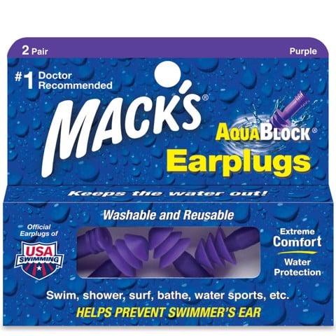 Bộ 2 nút tai chống ồn chống nước người lớn Mack's Aqua Block