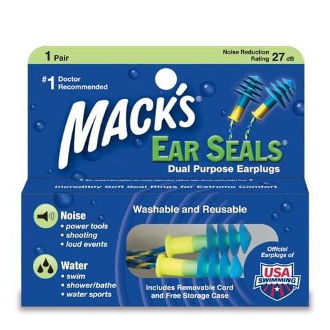 Bịt tai chống ồn chống nước bơi có dây Mack's Mỹ chính hãng