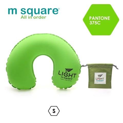 Gối hơi đi máy bay Msquare Light S L Xanh Cốm