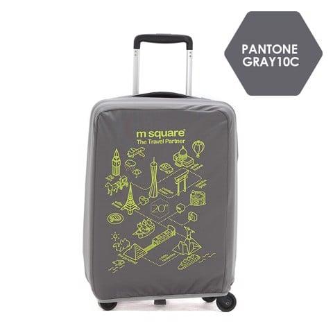 Túi vải bọc vali Msquare M0587 20' 24' 28' Xám