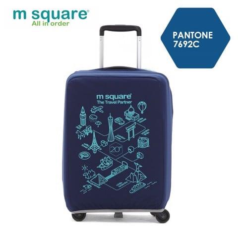 Túi vải bọc vali Msquare M0584 20' 24' 28' xanh navy