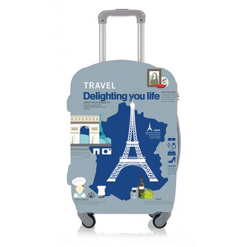 Áo trùm túi bọc vali Zemzem France S M L