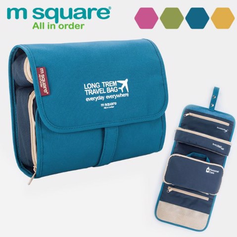 Túi đựng đồ trang điểm đồ cá nhân du lịch Msquare Bag In Bag Xanh Navy