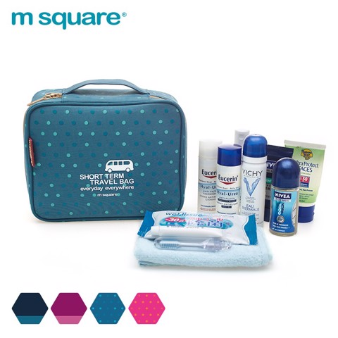 Túi đựng mỹ phẩm dạng hộp tay xách Msquare nam nữ