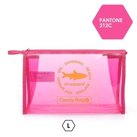 Túi nhựa trong suốt đựng mỹ phẩm Msquare size L