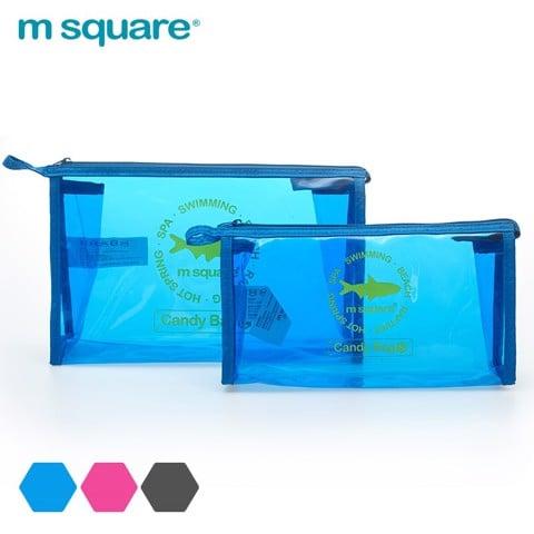 Túi trong suốt đựng mỹ phẩm Msquare size S