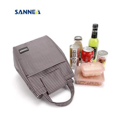 Túi vải giữ nhiệt Sannea ST1014 Kẻ Đen Trắng